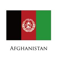 AFGHANISTAN Flags light iron ons