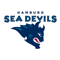 Hamburg Sea Devils 2005-2007 Alternate Logo Light Iron-on Stickers (Heat Transfers)