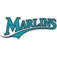 Florida Marlins Script Logo  Light Iron-on Stickers (Heat Transfers)
