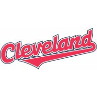 Cleveland Indians Script Logo  Light Iron-on Stickers (Heat Transfers)