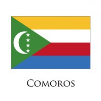 COMOROS Flags light iron ons