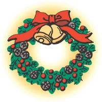 Jingle Bells Wreath light-colored apparel iron on stickers
