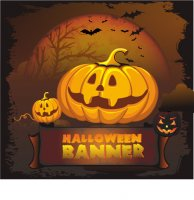 Halloween banner shirt light-colored apparel iron on stickers