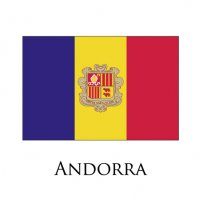 ANDORRA Flags light iron ons