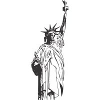 Statue of Liberty Light Iron On Stickers (Heat Transfers) version 4