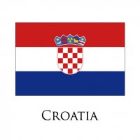 CROATIA Flags light iron ons