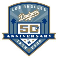 Los Angeles Dodgers Anniversary Logo  Light Iron-on Stickers (Heat Transfers)