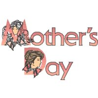 Happy Mother's Day Light Iron On Stickers (Heat Transfers) version 2