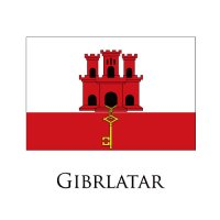 GIBRLATAR Flags light iron ons