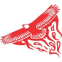 Eagle Flames light-colored apparel iron on stickers version 17