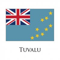 TUVALU Flags light iron ons