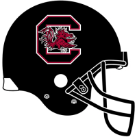 0-Pres South Carolina Gamecocks Helmet Logo Light Iron-on Stickers (Heat Transfers)