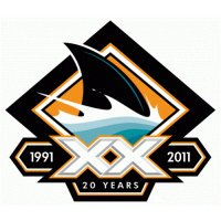 San Jose Sharks Anniversary Logo  Light Iron-on Stickers (Heat Transfers) version 5