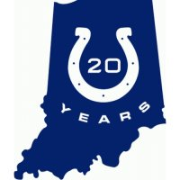 Indianapolis Colts Anniversary Logo  Light Iron-on Stickers (Heat Transfers)