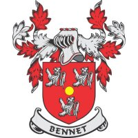Bennet Coat of Arms light-colored apparel iron on stickers