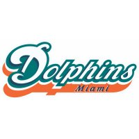 Miami Dolphins Script Logo  Light Iron-on Stickers (Heat Transfers) version 2