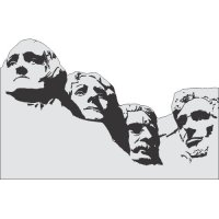 Mount Rushmore National Memorial Light Iron On Stickers (Heat Transfers)