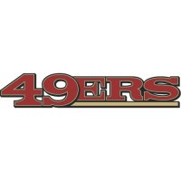 San Francisco 49ers Script Logo  Light Iron-on Stickers (Heat Transfers) version 1