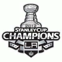 Los Angeles Kings 2012 Stanley Cup Champion Logo Light Iron-on Stickers (Heat Transfers) 1