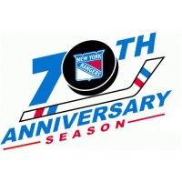 New York Rangers Anniversary Logo  Light Iron-on Stickers (Heat Transfers)