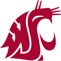 1995-Pres Washington State Cougars Primary Logo Light Iron-on Stickers (Heat Transfers)
