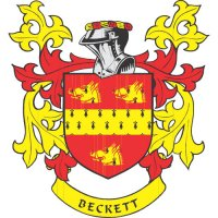 Beckett Coat of Arms light-colored apparel iron on stickers
