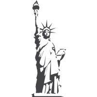 Statue of Liberty Light Iron On Stickers (Heat Transfers) version 5
