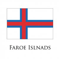 FAROE ISLANDS Flags light iron ons