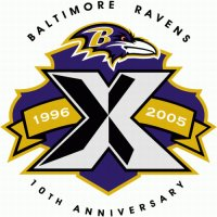 Baltimore Ravens Anniversary Logo  Light Iron-on Stickers (Heat Transfers)