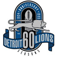 Detroit Lions Anniversary Logo  Light Iron-on Stickers (Heat Transfers)