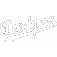 Los Angeles Dodgers Script Logo  Light Iron-on Stickers (Heat Transfers)