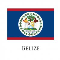 BELIZE Flags light iron ons