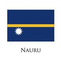 NAURU Flags light iron ons