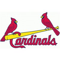 St. Louis Cardinals Script Logo  Light Iron-on Stickers (Heat Transfers) version 1