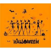 Halloween party shirt light-colored apparel iron on stickers