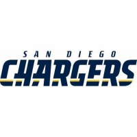 San Diego Chargers Script Logo  Light Iron-on Stickers (Heat Transfers) version 3
