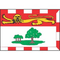 Prince Edward Island Flag Light Iron On Stickers (Heat Transfers)