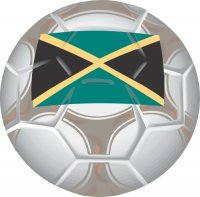 Jamaica Soccer Light Iron-on Stickers (Heat Transfers)