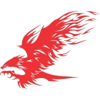 Eagle Flames light-colored apparel iron on stickers version 15