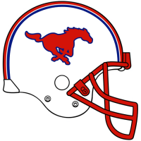 0-Pres Southern Methodist Mustangs Helmet Logo Light Iron-on Stickers (Heat Transfers)