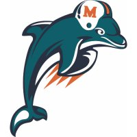 Miami Dolphins Alternate Logo  Light Iron-on Stickers (Heat Transfers) version 2