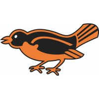 Baltimore Orioles Cap Logo  Light Iron-on Stickers (Heat Transfers)