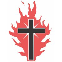 The Cross on Fire for God Light Iron On Stickers (Heat Transfers)