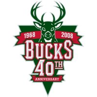 Milwaukee Bucks Anniversary Logo  Light Iron-on Stickers (Heat Transfers)