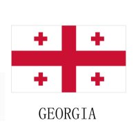 GEORGIA Flags light iron ons