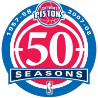Detroit Pistons Anniversary Logo  Light Iron-on Stickers (Heat Transfers)