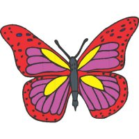 Butterfly Light Iron On Stickers (Heat Transfers) version 23