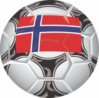 Norway Soccer Light Iron-on Stickers (Heat Transfers)
