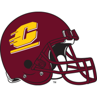 Central Michigan Chippewas 1997-Pres Helmet Logo Light Iron-on Stickers (Heat Transfers)
