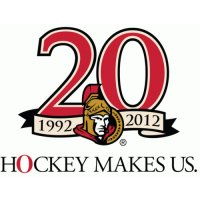 Ottawa Senators Anniversary Logo  Light Iron-on Stickers (Heat Transfers)